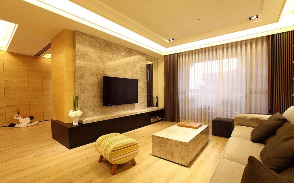 现代风格穿透感电视墙设计效果图