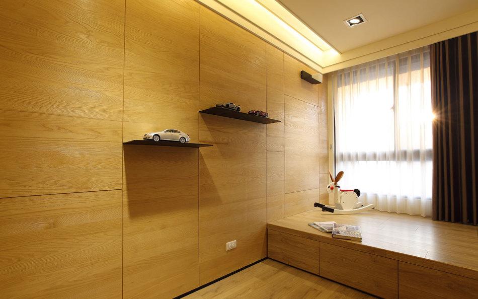 现代风格书房兼客房设计效果图