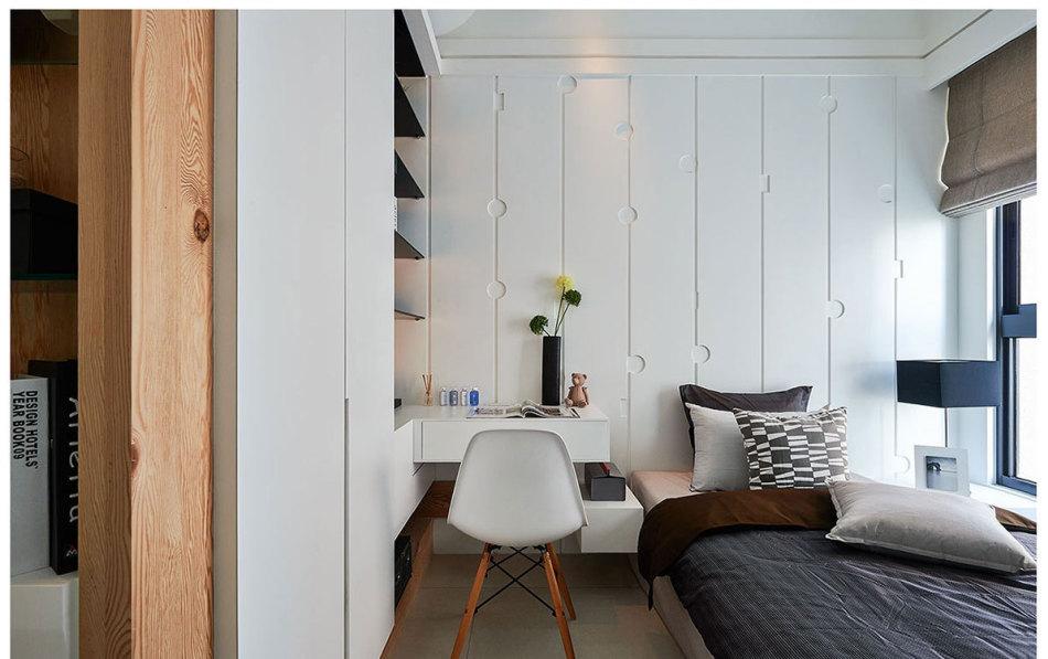 现代风格床头设计设计图片