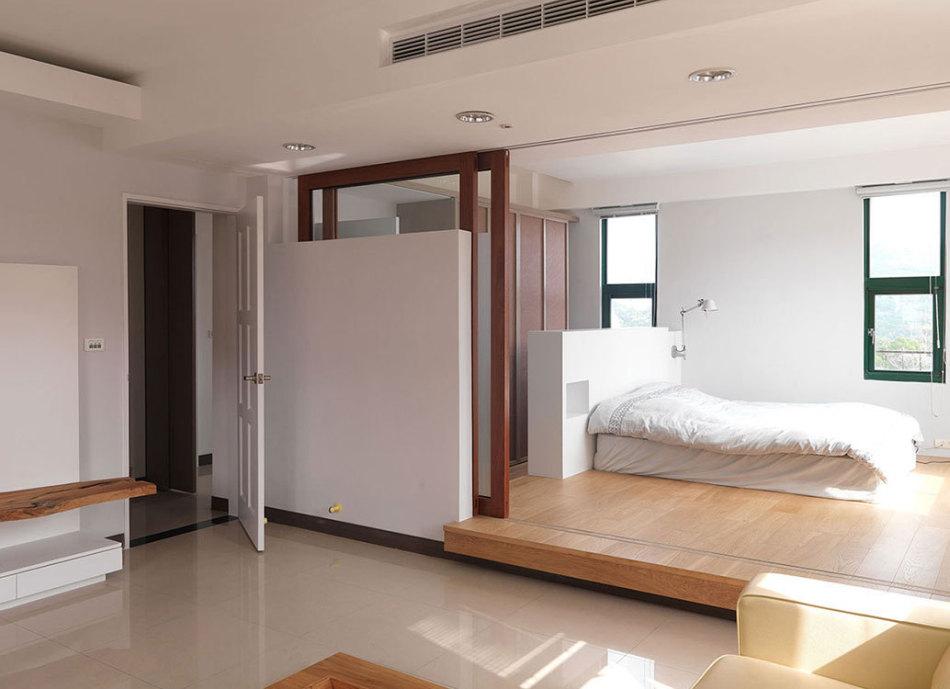 现代风格男主人房设计效果图