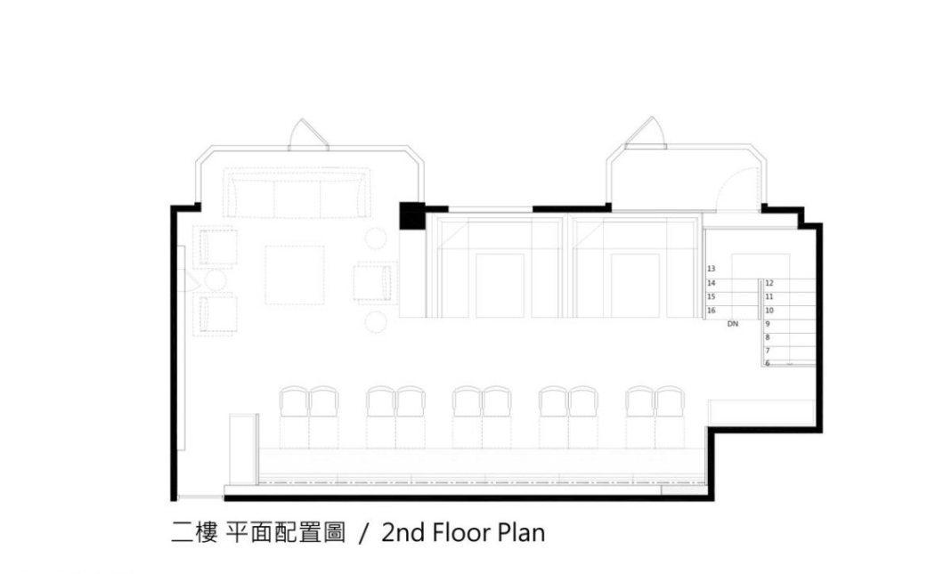现代风格2F平面图装修效果图