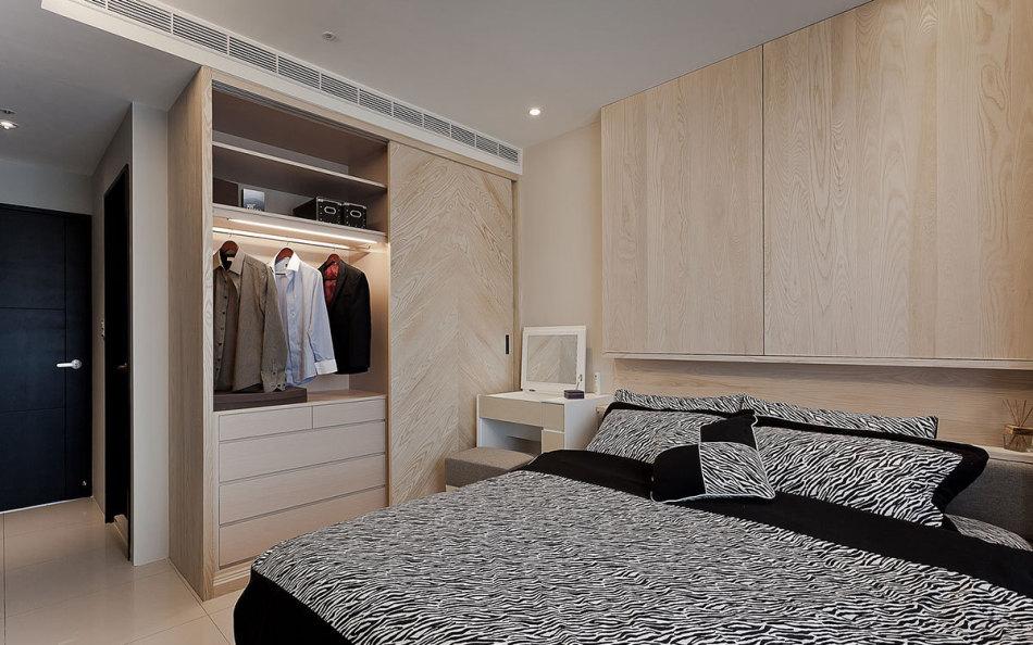 现代风格主卧房效果图