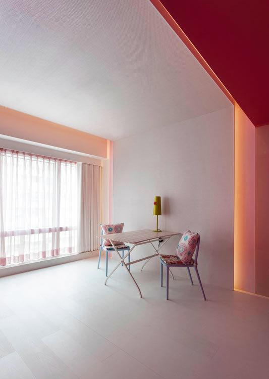 现代风格客卧座位区效果图
