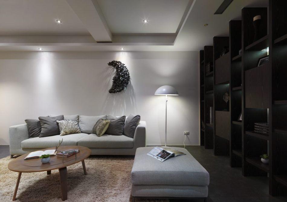 现代风格沙发区图片