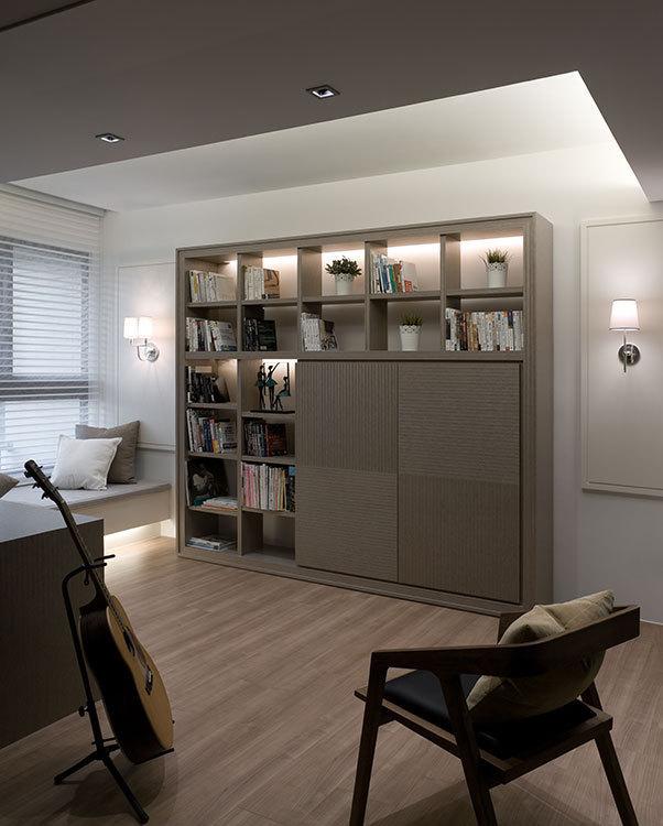现代风格端景书墙设计图片