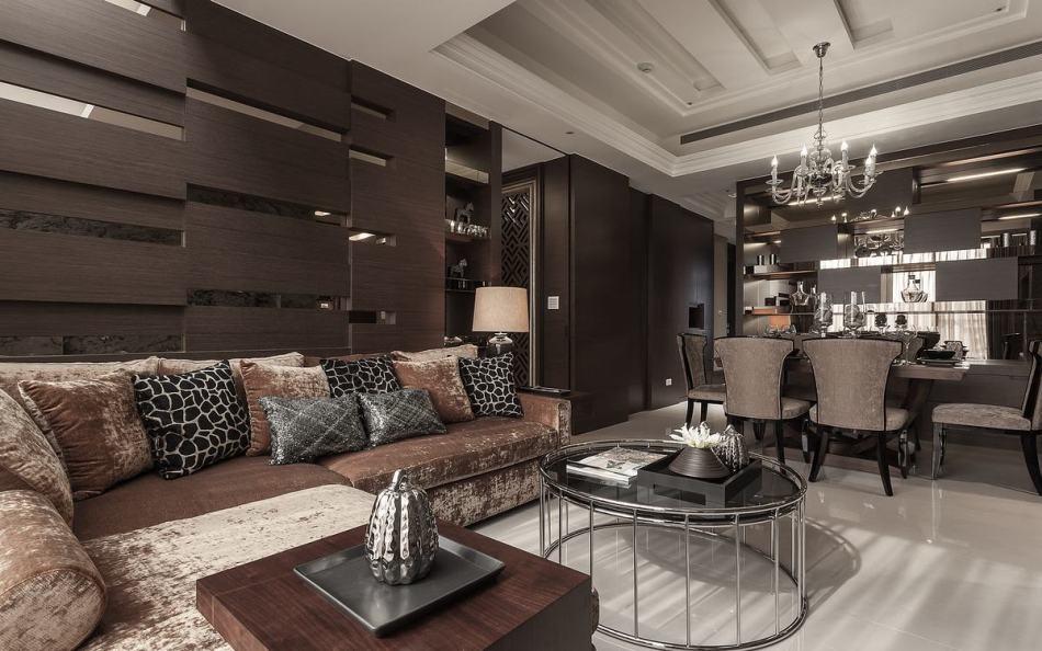 古典风格沙发背墙装修效果图