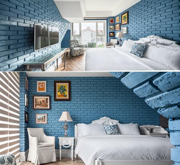 美式风格宝蓝色彩设计图片