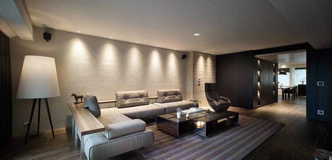 人文休闲沙发背墙装修效果图