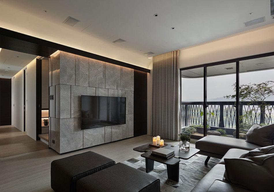 现代风格电视墙设计效果图