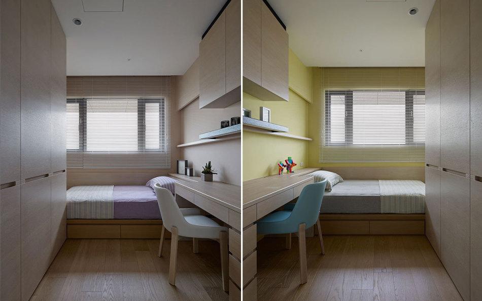 现代风格次卧设计效果图