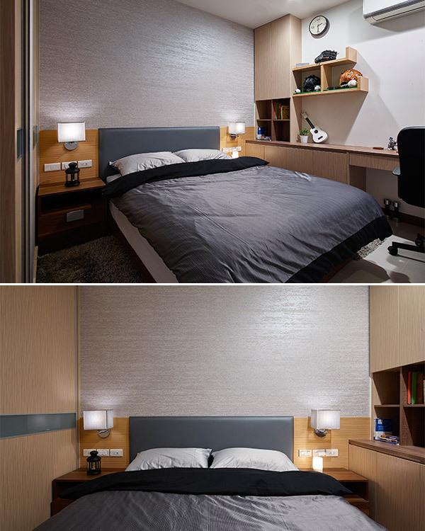 现代风格次卧房效果图