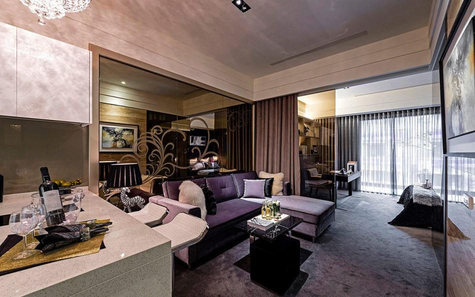 奢华风格客厅设计效果图