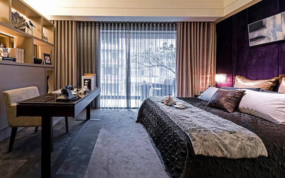 奢华风格卧房设计效果图
