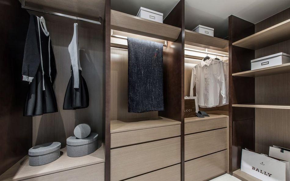 现代人文风更衣室效果图