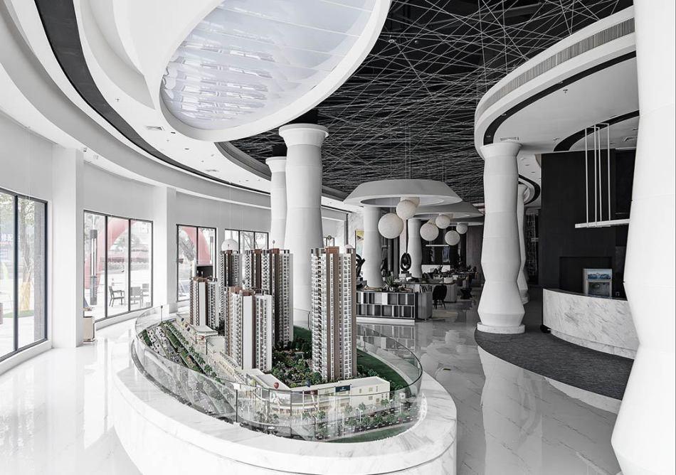 现代风格展示区设计图片