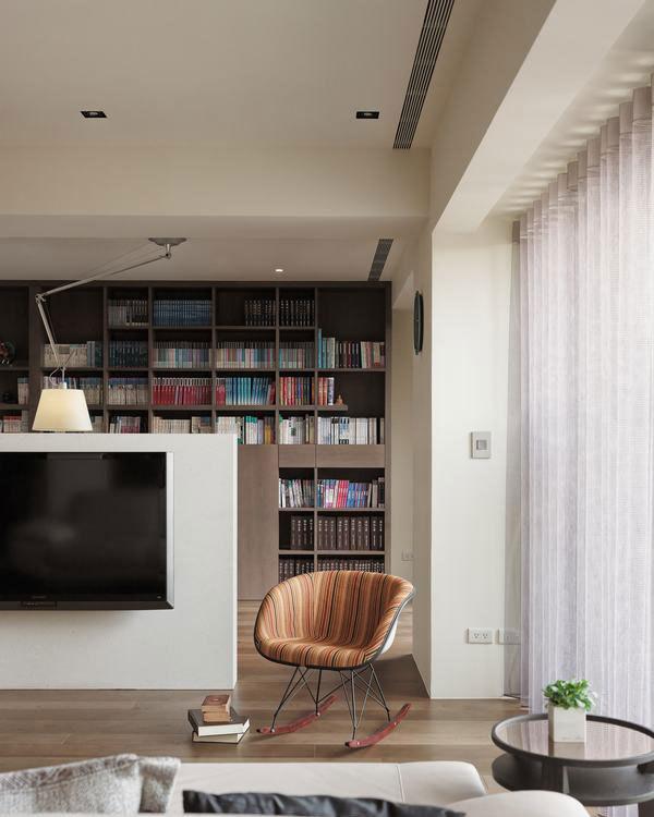 现代风格造型书柜设计图片