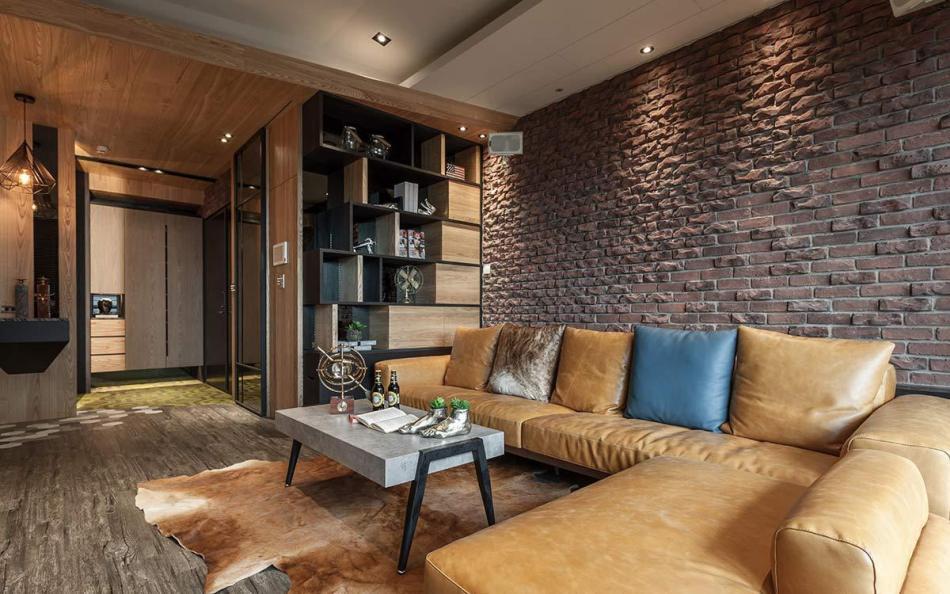 工业风格沙发墙装修图片