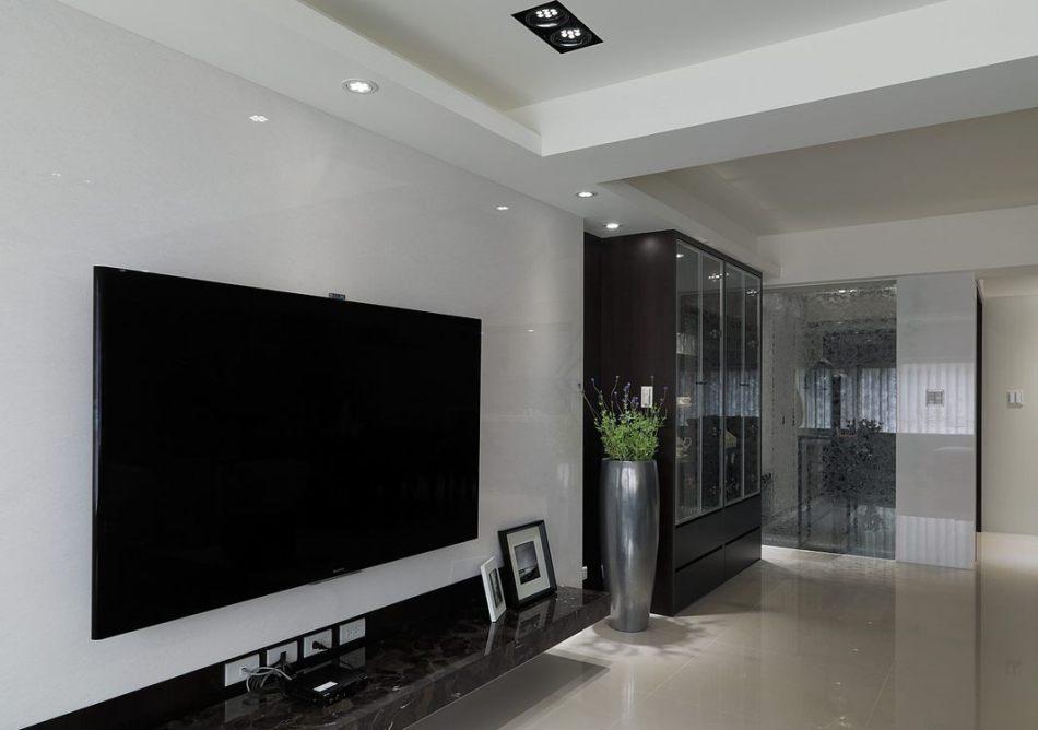 现代风格电视主墙设计图片