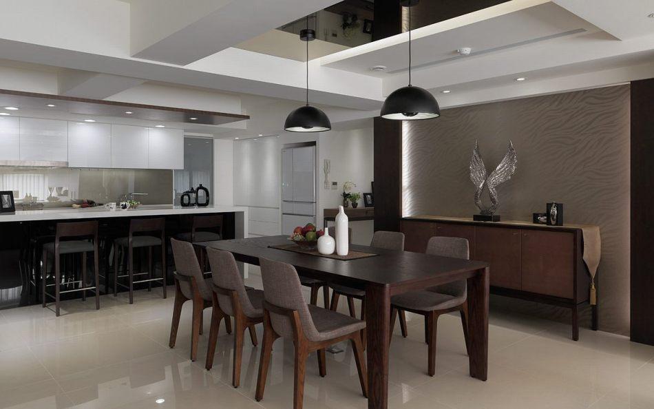 现代风格轻食吧檯与厨房设计图片