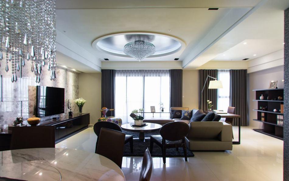 奢华风格客厅与书房装修案例