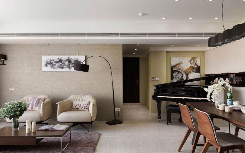 现代风格钢琴摆放图