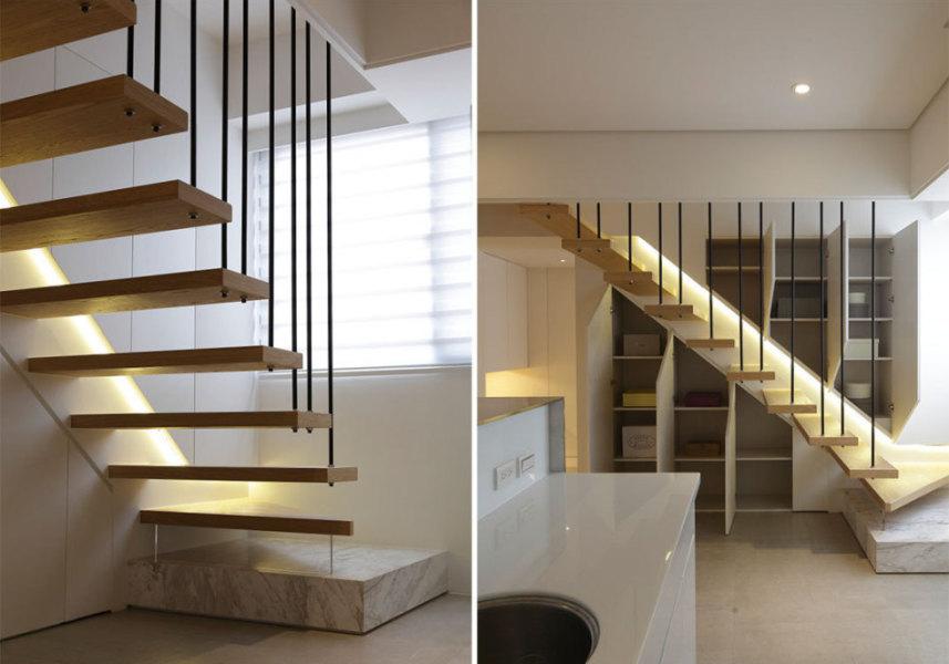 现代风格楼梯量体欣赏图