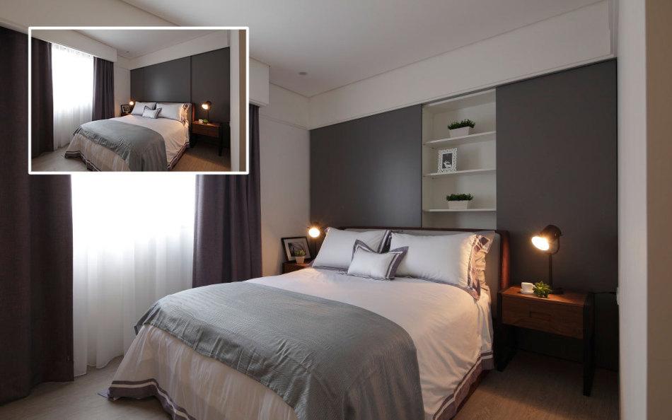 现代风格主卧睡眠区欣赏图