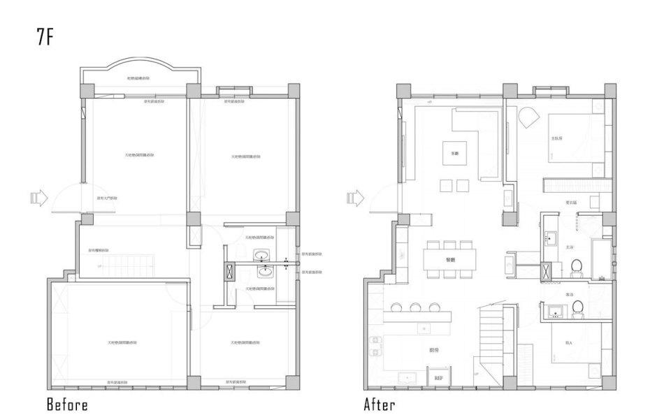 现代风格7楼平面配置图欣赏图