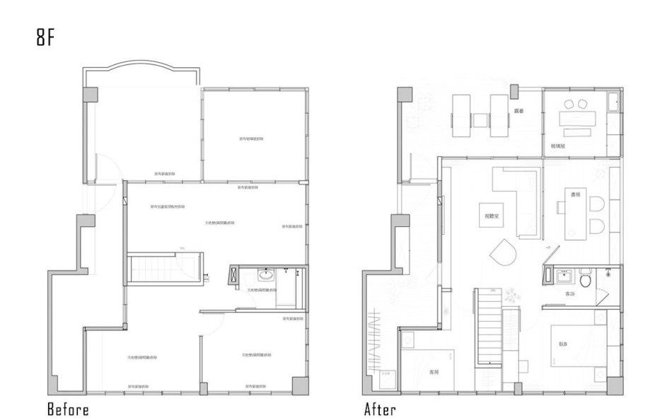 现代风格8楼平面配置图欣赏图