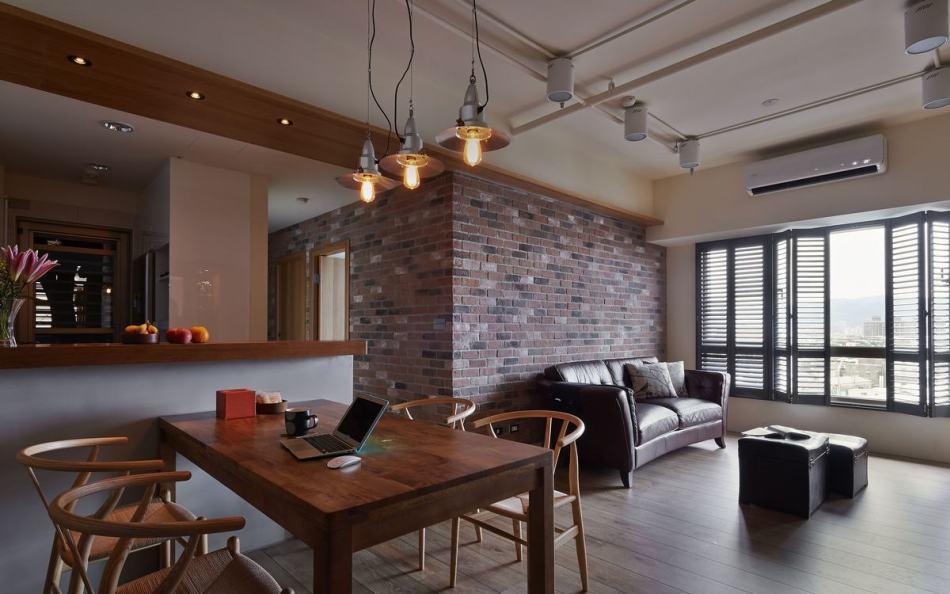 休闲多元沙发背墙装修案例