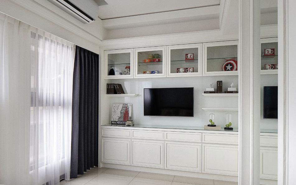 现代风格电视墙规划图片