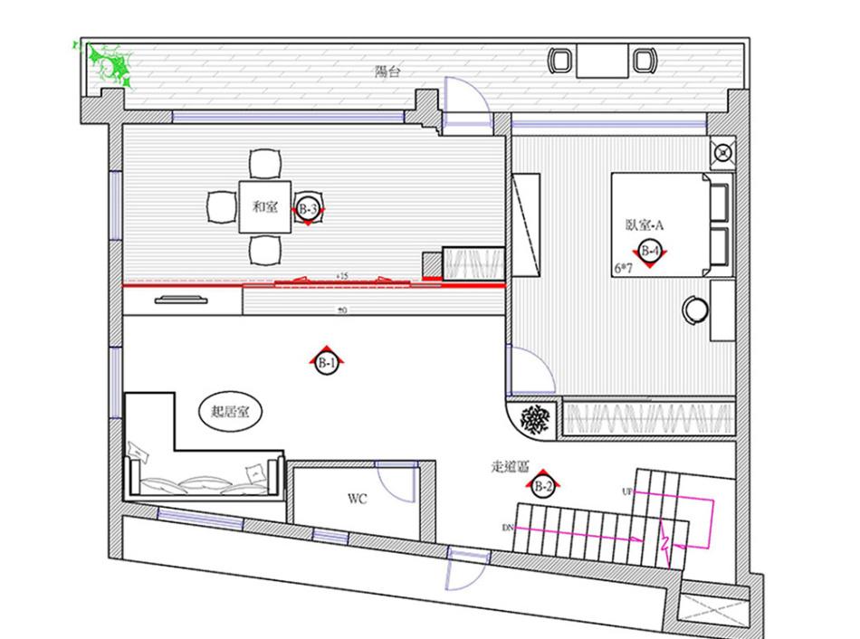 休闲多元二楼平面图图片