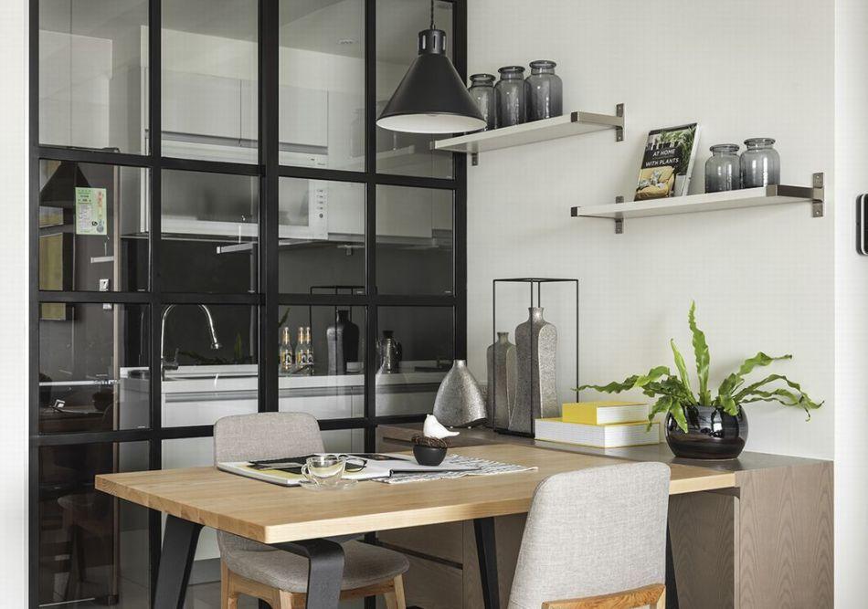 现代风格餐厨区欣赏图
