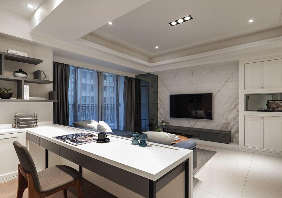 现代轻美式风格客厅装修图片