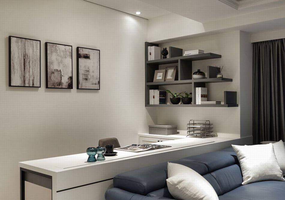 现代轻美式风格客厅端景装修图片