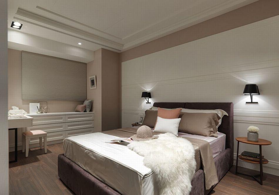 现代轻美式风格主卧房装修图片