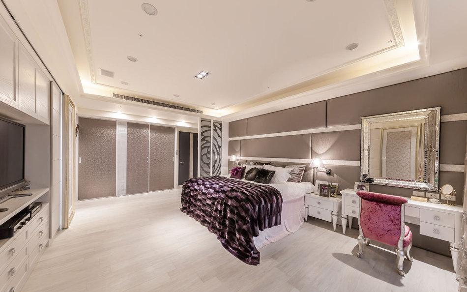 新古典床头主墙设计效果图