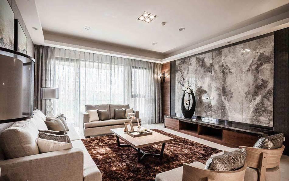 现代风格客厅天花装修案例