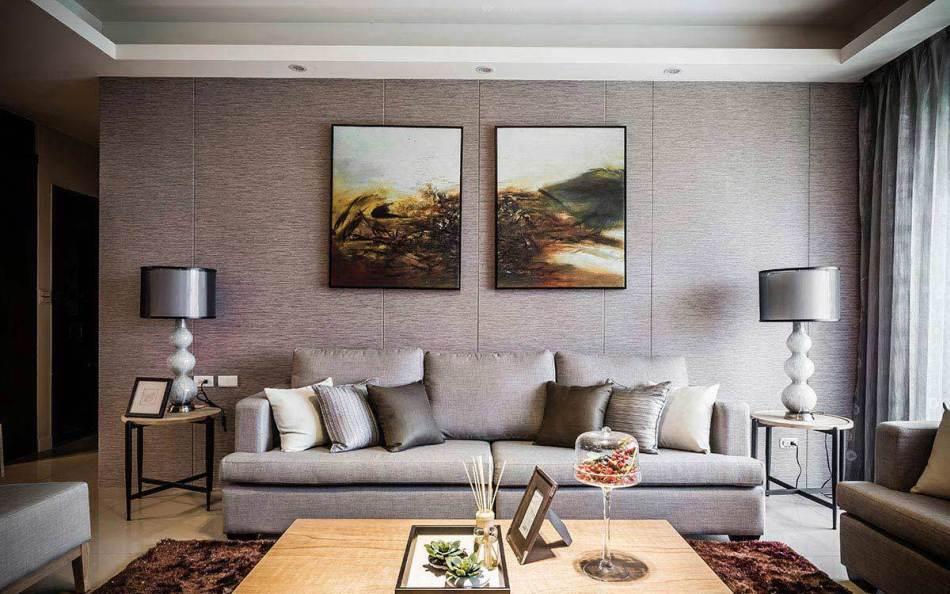 现代风格沙发背墙装修案例