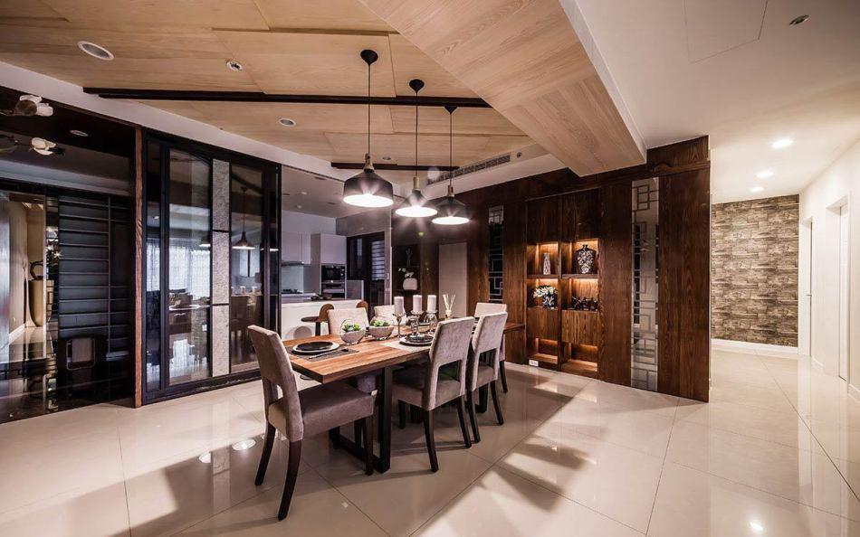 现代风格餐厅至厨房空间装修案例