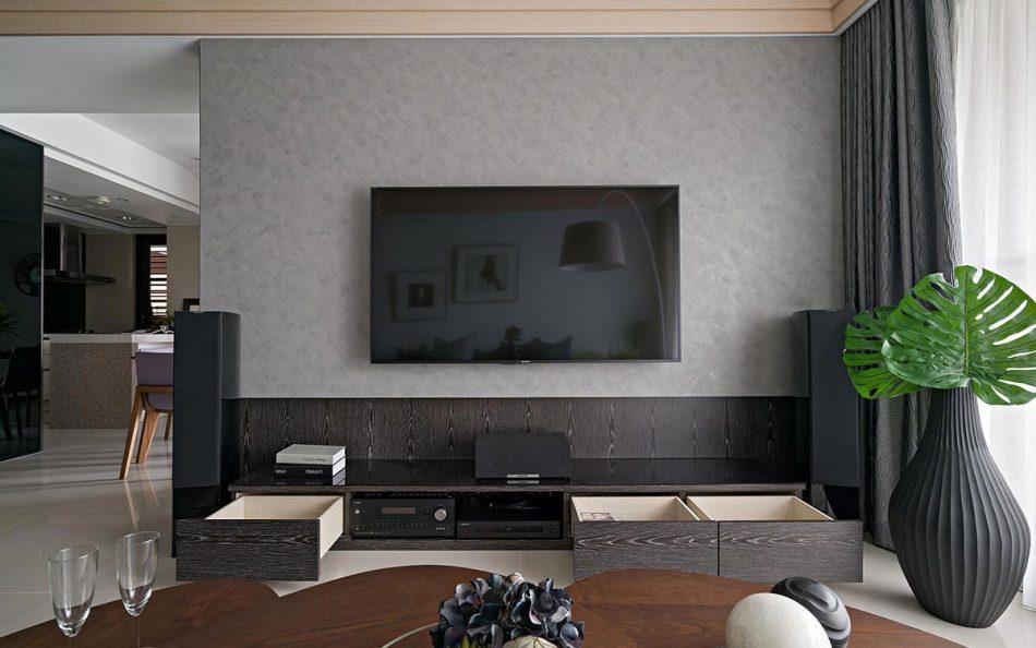 现代风格电视墙装修图片