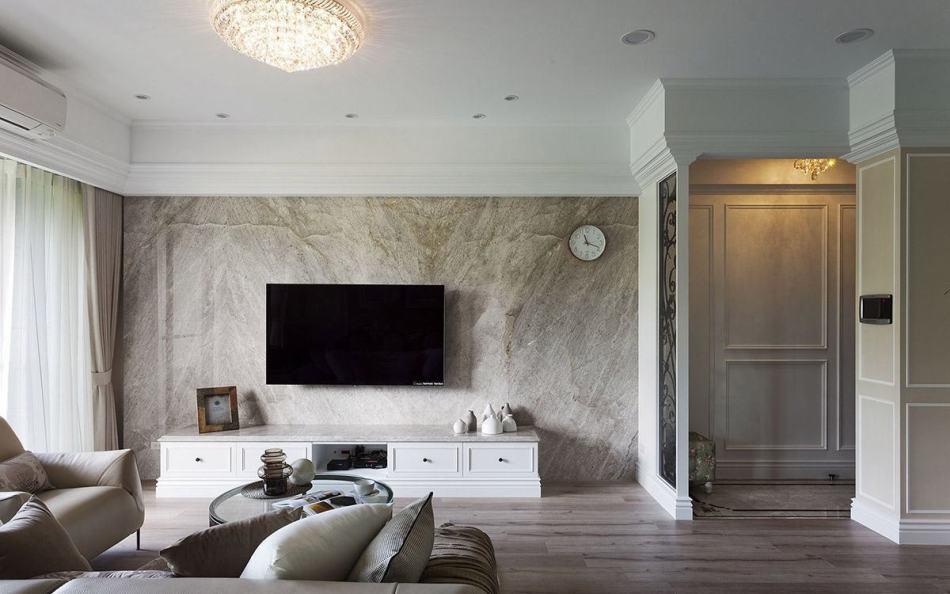 美式风格电视主墙设计图片