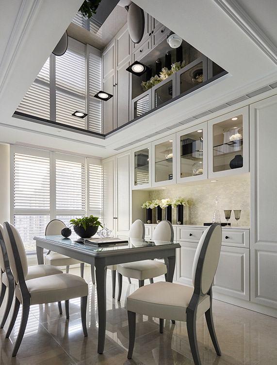 美式风格餐厅天花板图