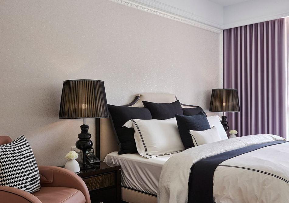 美式风格床头主墙图