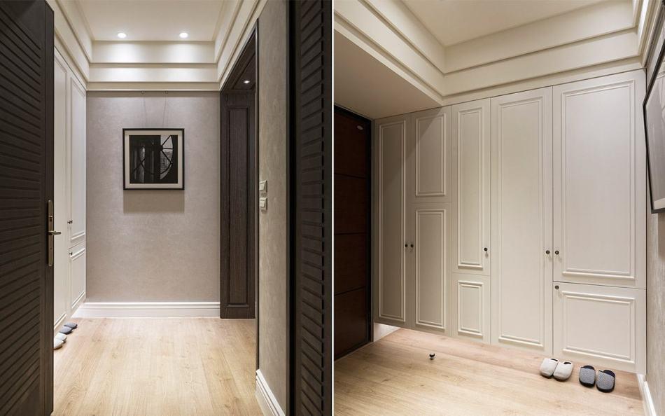 烤漆壁纸线板本案虽为新成屋但已经经历过两次装修