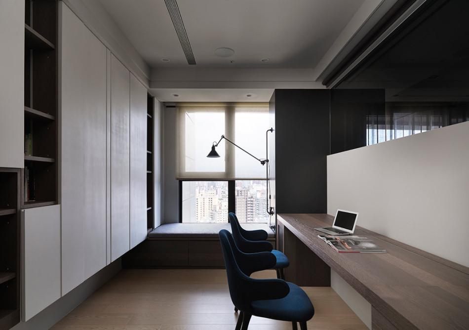 现代风格日光书房设计图片