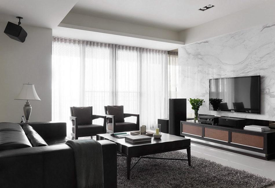 现代风格客厅主墙设计图片