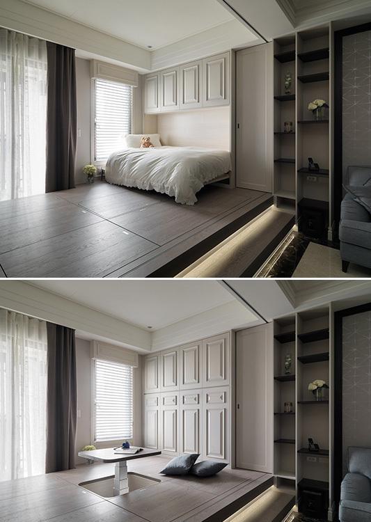美式风格卧室功能效果图