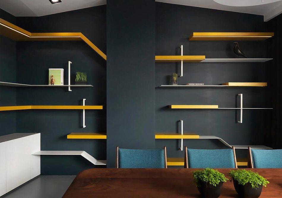 现代风格餐厅背墙设计图片