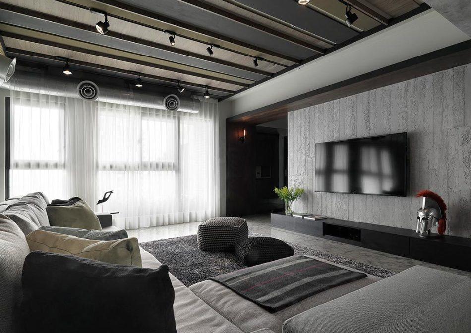工业风格电视墙欣赏图